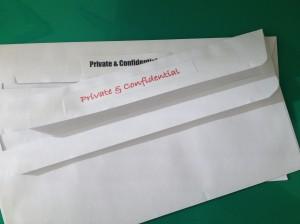 Private envelopes