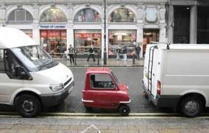 funny tiny car parking